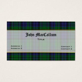 Handsome MacCallum Plaid Custom Business Card