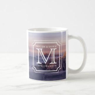 Handsome Monogram Beautiful Landscape Photo Simple Coffee Mug