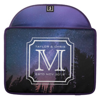 Handsome Monogram Beautiful Landscape Photo Simple Sleeves For MacBooks