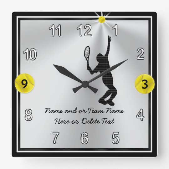 Handsome Personalised Tennis Clocks for Men, Boys