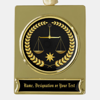 Handsome Personalized Attorney Ornament YOUR TEXT