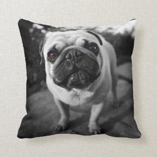 Handsome Pug Throw Pillows