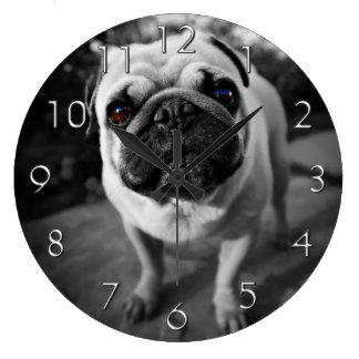 Handsome Pug Large Clock