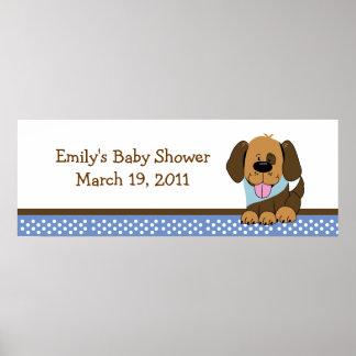Handsome Puppy Baby Shower /  Birthday Banner Poster