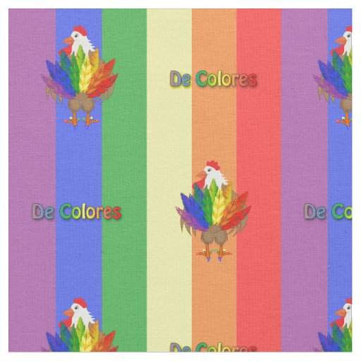 Handsome Rooster with De Colores Fabric