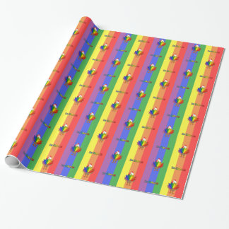 Handsome Rooster with De Colores Wrapping Paper
