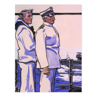 Handsome Sailors, WW1 1917 Art Postcard