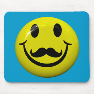 Handsome Smiley Face With Moustache Mousepad Mousepad
