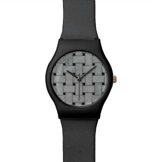 Handsome Stylish Black & Basket Weave Watch