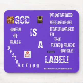 handsout, CACCL4AM, CA62PAFT, cji1, GOD , IS, A... Mouse Pad