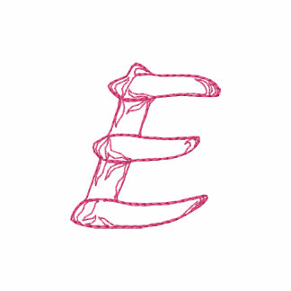 Handstitch Letter E