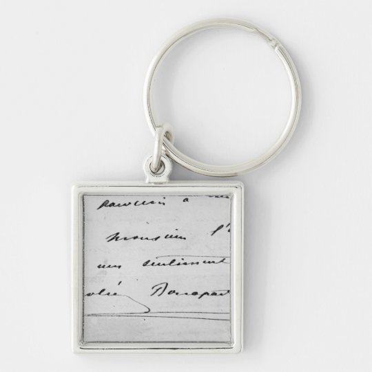 Handwriting and Signature Key Ring