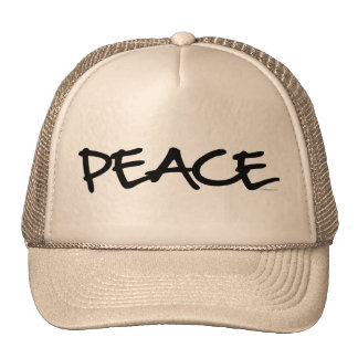 Handwriting Peace Hats