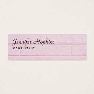 Handwriting Plain Pink Wall Modern Slim Feminine Mini Business Card