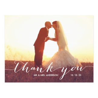 Handwriting Script | Wedding Thank You Postcard