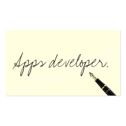 Handwritten Apps developer Business Card