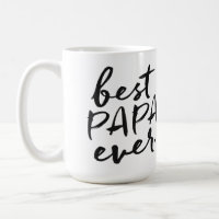Handwritten Best Papa Ever Coffee Mug