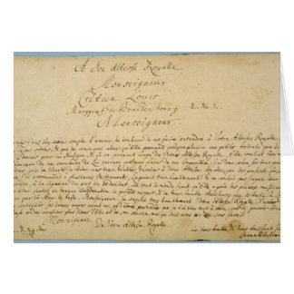 Handwritten dedication  'Brandenburger Concertos' Greeting Card