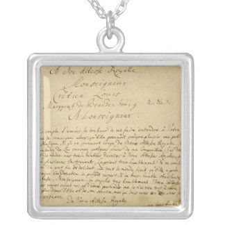 Handwritten dedication  'Brandenburger Concertos' Silver Plated Necklace