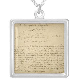 Handwritten dedication  'Brandenburger Concertos' Square Pendant Necklace