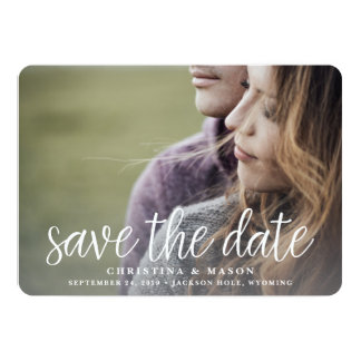 Handwritten | Double-Sided Photo Save the Date 13 Cm X 18 Cm Invitation Card