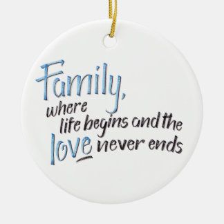 Handwritten Family Quote Christmas Ornament