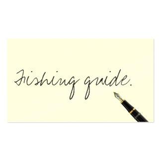Handwritten Fishing Guide Business Card