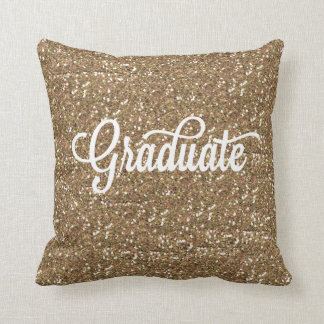 HANDWRITTEN GOLD GLITTER GRADUATION PILLOW