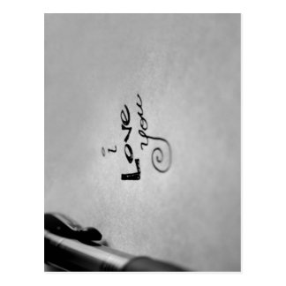 Handwritten I Love You Postcard