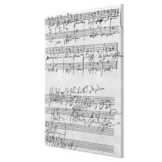 Handwritten musical score canvas print