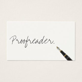 Handwritten Proofreading Business Card