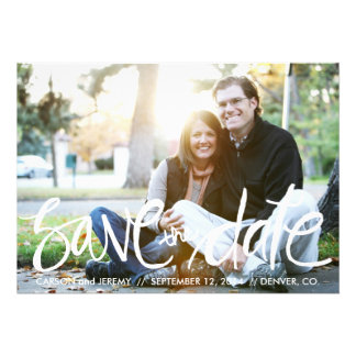 Handwritten Save The Date Photo Post card