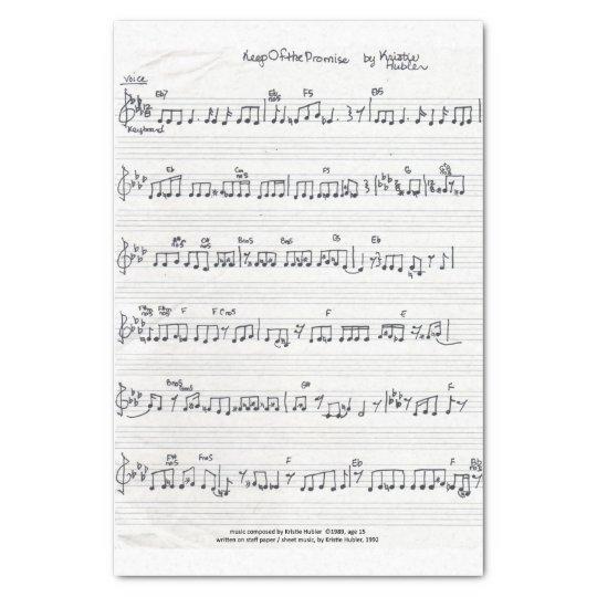 Handwritten Sheet Music tissue paper