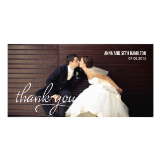 HANDWRITTEN Thank You Cards - White Photo Card Template