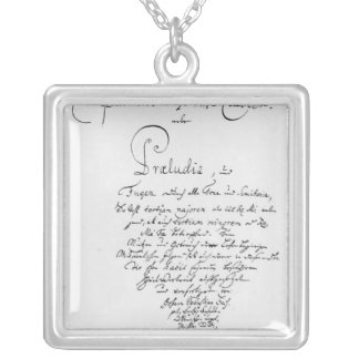 Handwritten Titlepage of The Well Tempered Square Pendant Necklace