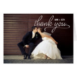 HANDWRITTEN Wedding Thank You Photo Card Cards