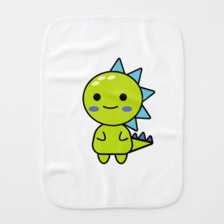 Handy Green Dinosaur Kawaii Cartoon Burp Cloth