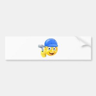 Handy Man Carpenter Builder Emoji Emoticon Bumper Sticker