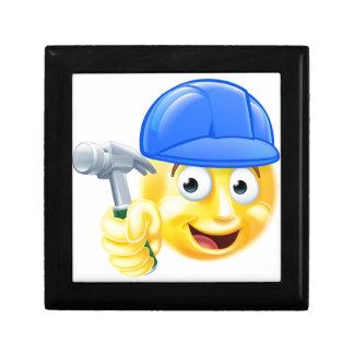 Handy Man Carpenter Builder Emoji Emoticon Small Square Gift Box