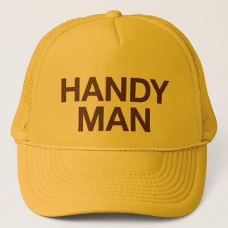 HANDY MAN fun slogan trucker hat