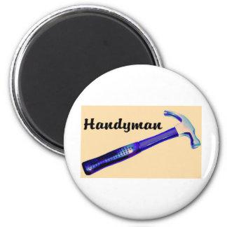 Handyman 6 Cm Round Magnet