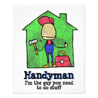 HandyMan. Builder. Construction. Contractor. 11.5 Cm X 14 Cm Flyer