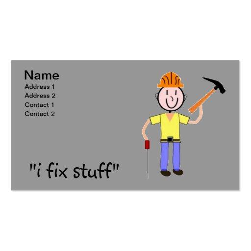 Handyman Business Cards I Fix Stuff