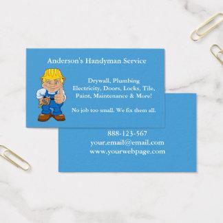 Handyman Caricature Repairman Tools Business Card