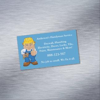 Handyman Caricature Repairman Tools Magnetic Business Cards