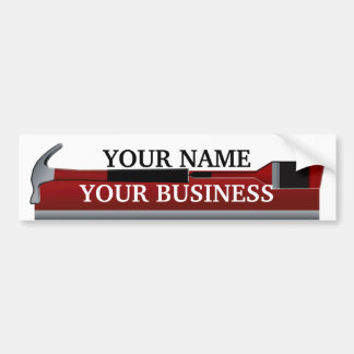 Handyman Carpenter and Painter Bumper Sticker