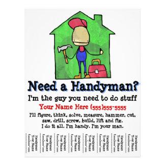 Handyman. Carpenter. Builder. Marketing flyer