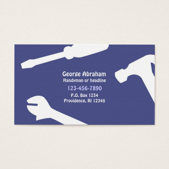 Handyman / Constructions Business Card