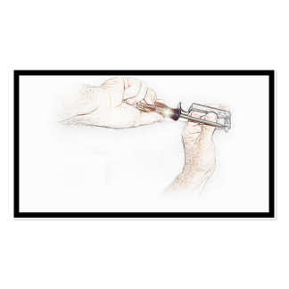 Handyman Hands with Screwdriver (Mr. Fix-it) Pack Of Standard Business Cards