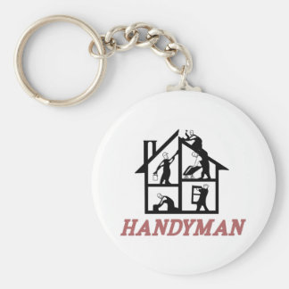 Handyman Basic Round Button Key Ring